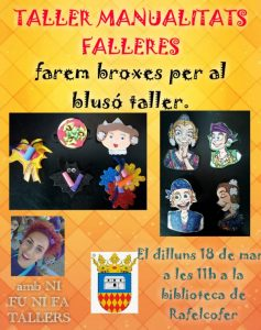 Taller manualitats falleres - 18 de març - Biblioteca Rafelcofer