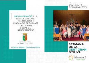 Oliva organitza la Setmana de la Gent Gran, del 14 al 18 de maig