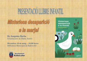 """Presentació llibre infantil """"Misteriosa desaparició a la marjal"""""""