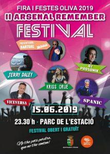 Oliva celebrarà el dissabte 15 el II Arsenal Remember Festival, dins de la Fira i Festes