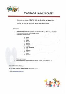 MATRICULA ESCOLA DE MÚSICA