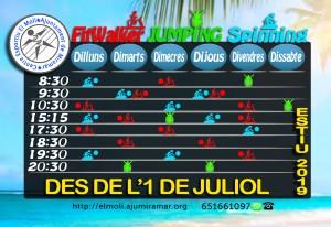 HORARIS CENTRE ESPORTIU- ACTIVITATS
