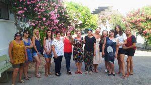 La vicealcaldessa Ana Maria Morell i les regidores M.ª Josep Llorens i Anna Mena, es reuniren ahir amb Cristina Pons, Presidenta Provincial d'AFFAMER
