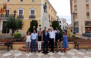 La Corporació Municipal d'Oliva rep a l'alcalde de Herbolzheim