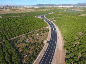 La Diputació renova la carretera entre Sagunt i Canet d'En Berenguer i acaba amb la seua perillositat