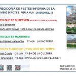 LA REGIDORIA DE FESTES INFORMA DE LA PREVISIÓ D'ACTES PER A HUI: DIVENDRES, 13