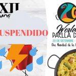 Suspesos els actes del World Paella Day a Oliva per previsió de pluja