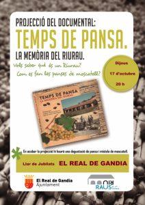 PROYECCIÓN DOCUMENTAL TEMPS DE PANSA