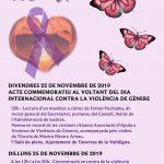 25-N ACTE COMMEMORATIU AL VOLTANT DEL DIA INTERNACIONAL CONTRA LA VIOLÈNCIA DE GÈNERE