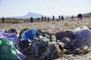 Jornada de voluntariat per a la recollida de deixalles produïdes per la Tempesta Glòria el dia 1 de febrer