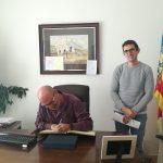 El diputat de Cultura, Xavier Rius, visita la localitat de Casinos