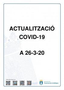 ACTUALITZACIÓ COVID-19 A 26-3-20 | Ajuntament de Tavernes de la Valldigna
