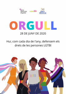 Celebració del Dia de l'Orgull de la Safor, dissabte 28 de juny de 2020