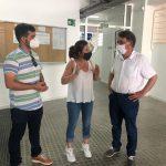 El Director General d'Esport, Josep Miquel Moya i la regidora d'Esport d'Oliva, Yolanda Navarro han visitat el Poliesportiu Municipal