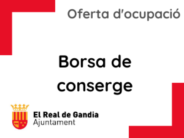 BASES I CONVOCATÒRIA BORSA DE CONSERGE