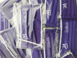 La Mancomunitat de Municipis de la Safor reparteix mascaretes violeta el 25 de novembre com a suport a la lluita contra la violència de gènere