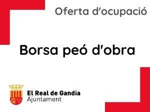 BOLSA TEMPORAL PEÓN DE BRIGADA  DE OBRA