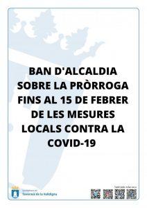 L'Ajuntament de Tavernes prorroga les mesures municipals contra la COVID-19