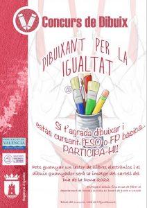 L'Ajuntament de Tavernes convoca la cinquena edició del concurs 'Dibuixant per la Igualtat'