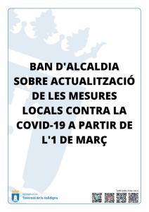 Actualització de les mesures locals contra la COVID-19 a partir de l'1 de març