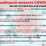Actualitzaci贸 mesures COVID-192