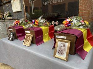 Els cossos dels set veïns identificats en la Fossa 112 ja descansen en el cementeri de Tavernes