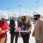 Els diputats Carlos Fernández Bielsa i Vicent Mascarell visiten les obres de la piscina de Miramar – Ajuntament de Miramar